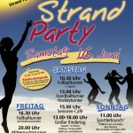 Plakat der Strandparty 2012